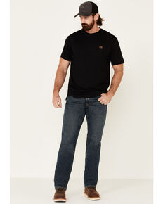 Wrangler Men's Riggs Short Sleeve Pocket T-Shirt, Black, hi-res
