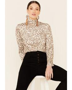 Tasha Polizzi Women's Kylie Multi Leopard Long Sleeve Turtleneck Top , Multi, hi-res