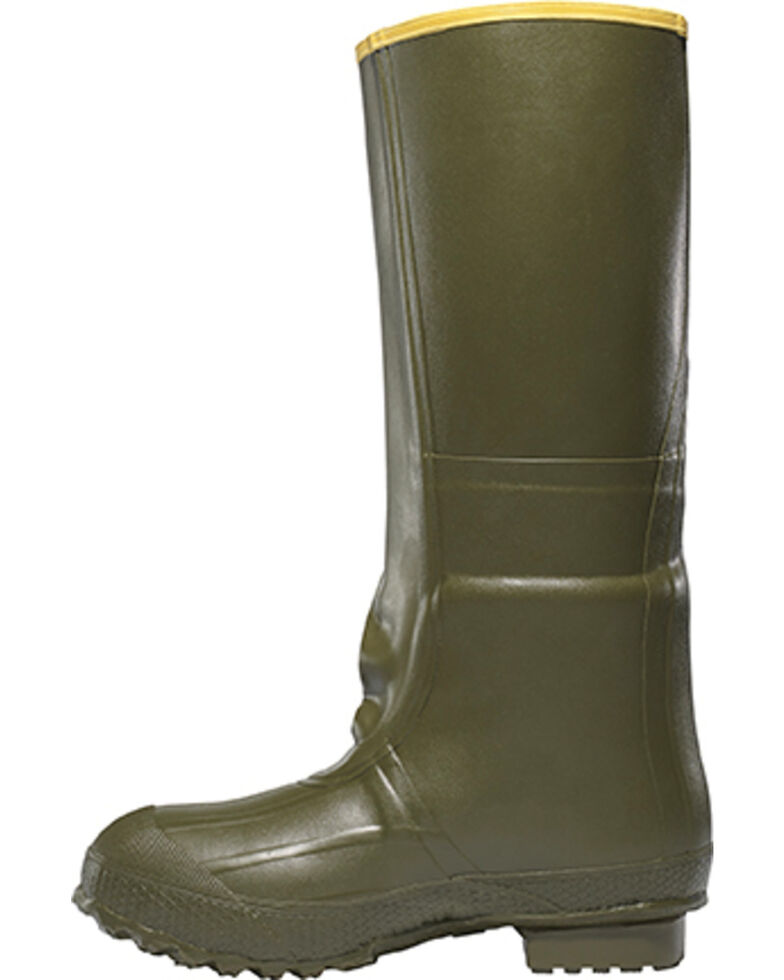 """LaCrosse Men's Insulated 2-Buckle 18"""" Hunting Boots - Round Toe , Green, hi-res"""