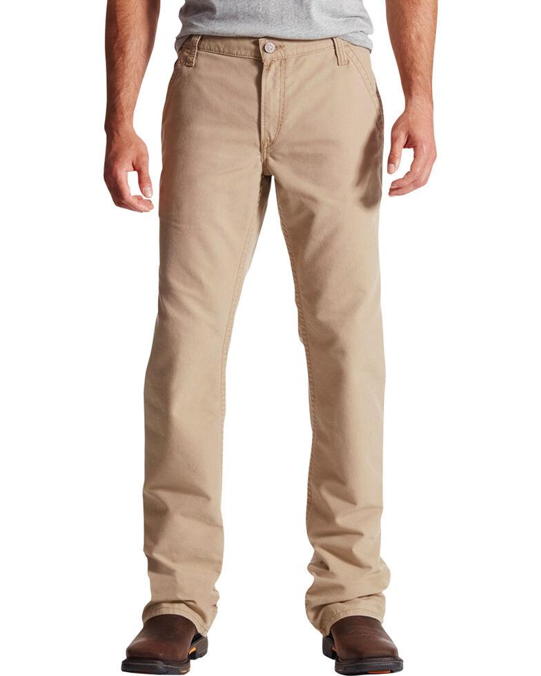 Ariat Men's Flame-Resistant M4 Workhorse Bootcut Work Jeans, Khaki, hi-res