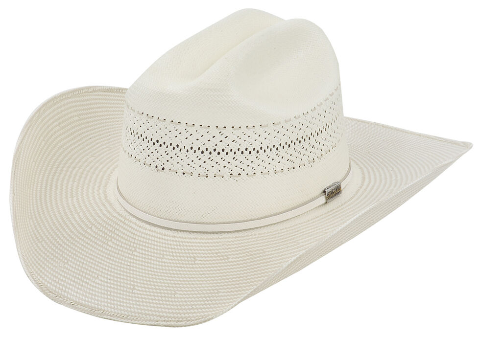 Larry Mahan 10X Ivory Cinch Straw Cowboy Hat, Ivory, hi-res