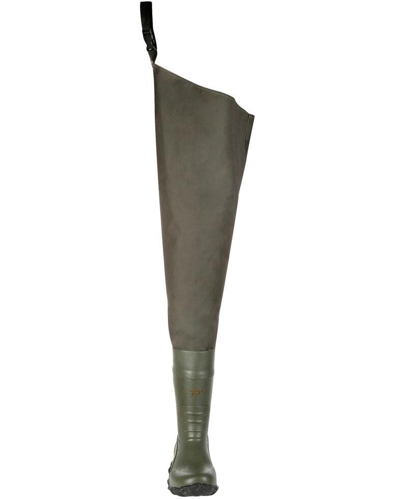 Georgia Boot Men's Waterproof Wader Boots - Round Toe, Green, hi-res