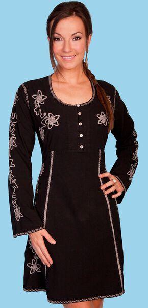 Scully Long Sleeve Dress, Black, hi-res