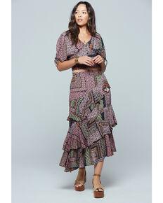 Band of Gypsies Women's Patchwork Ruffle Skirt , Multi, hi-res