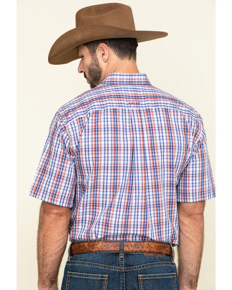 Ariat Men's Wrinkle Free Wayne Small Plaid Short Sleeve Western Shirt - Big, Multi, hi-res