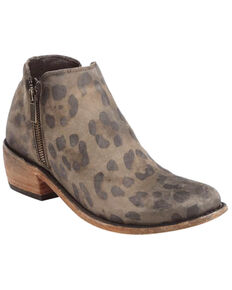 Liberty Black Women's Cheetah Miel Double Zip Booties - Round Toe , Brown, hi-res