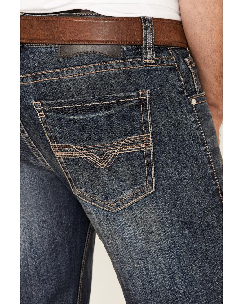 Rock & Roll Denim Men's Pistol Dark Vintage Classic Straight Jeans , Blue, hi-res
