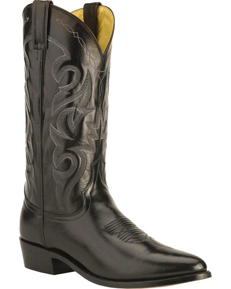 Dan Post Men's Mignon Leather Cowboy Boots - Medium Toe, Black, hi-res