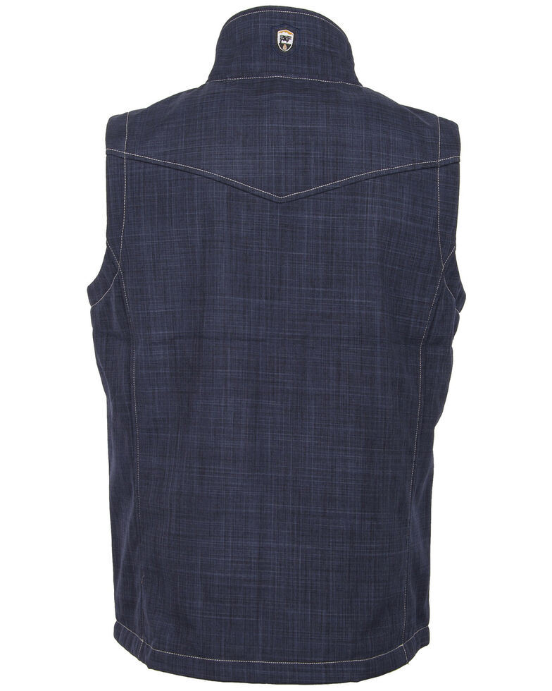 STS Ranchwear Men's Heather Blue The Perf Softshell Vest, Heather Blue, hi-res
