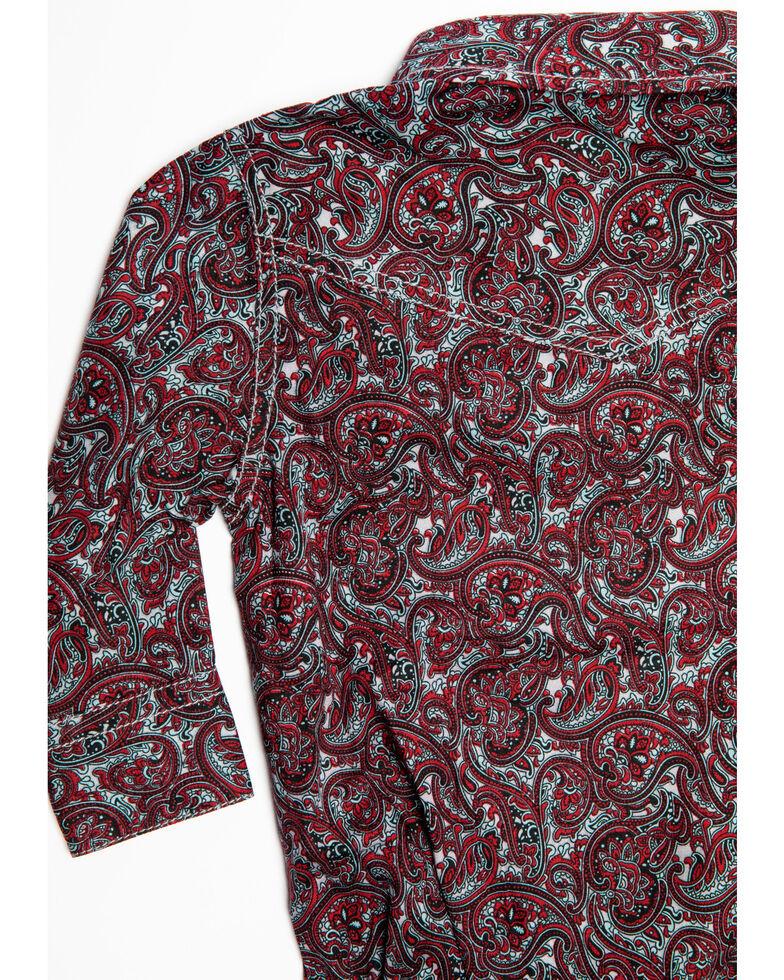 Cody James Infant Boys' Noble Paisley Print Long Sleeve Onesie , Maroon, hi-res