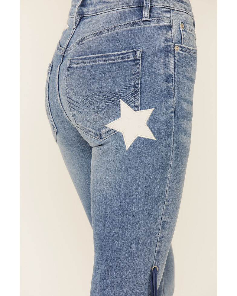 Idyllwind Women's Americana Fringe Super Star Jeans, Medium Blue, hi-res