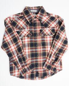 Cody James Toddler Boys' Spruce Plaid Long Sleeve Western Flannel Shirt , Black/red, hi-res