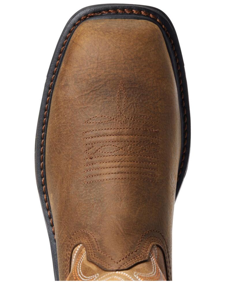 Ariat Men's Rye Big Rig Western Work Boots - Composite Toe, Brown, hi-res
