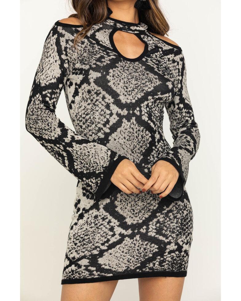 Shyanne Women's Snake Print Jacquard Dress , Python, hi-res