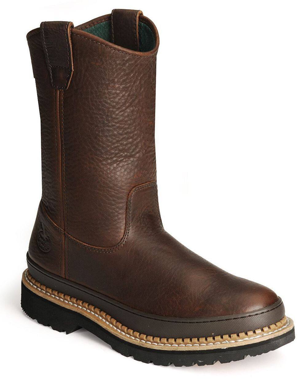 Georgia Giant Wellington Work Boots, Brown, hi-res