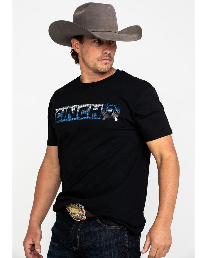 Cinch Men's Black Logo Bar Graphic T-Shirt , Black, hi-res
