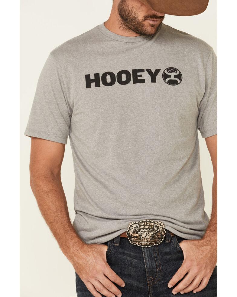 HOOey Men's Grey Lock-Up Graphic T-Shirt , Grey, hi-res