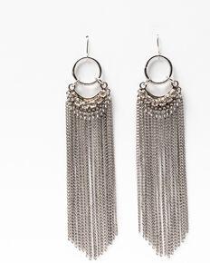 Idyllwind Women's Shining Star Fringe Earrings, Silver, hi-res