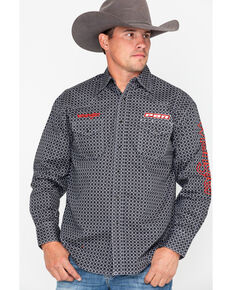 2022fa9073 Wrangler Men s PBR Logo Long Sleeve Shirt