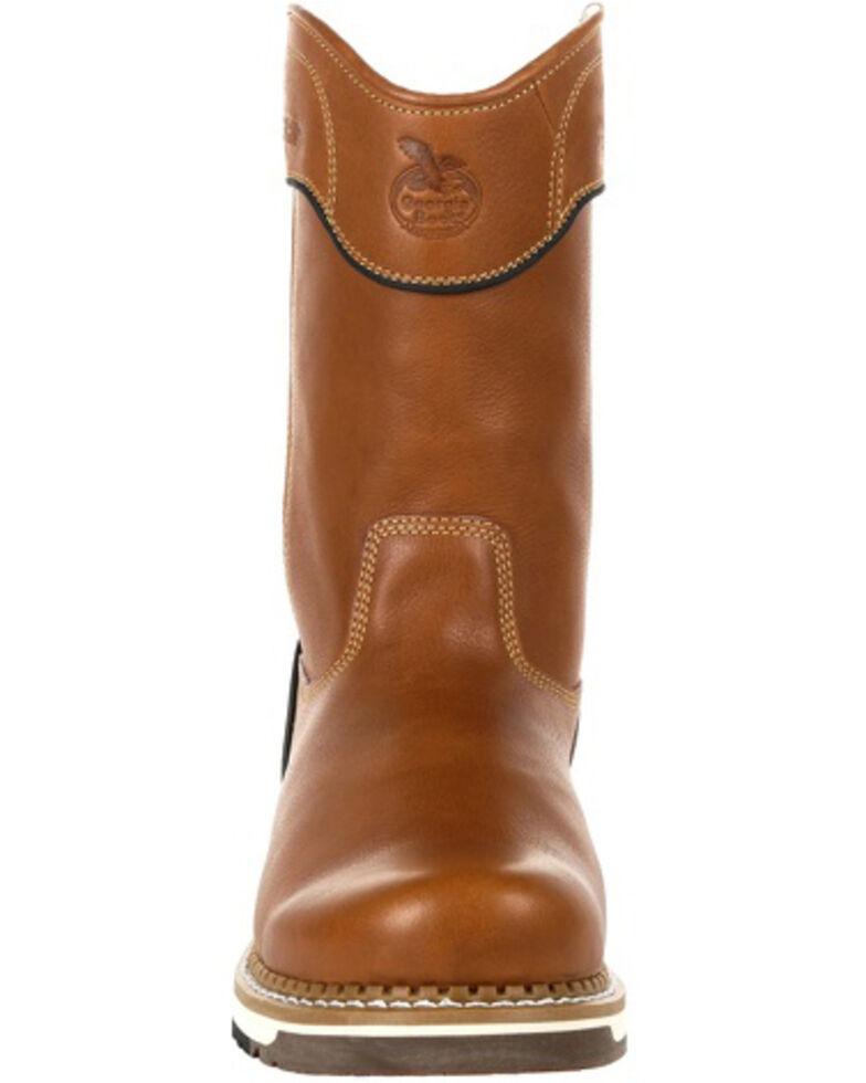 Georgia Boot Men's AMP LT Western Work Boots - Soft Toe, Brown, hi-res