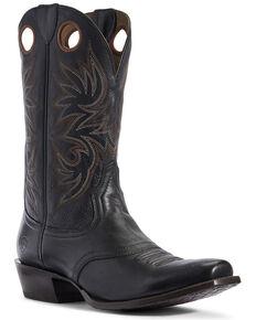 Ariat Men's Circuit Striker Western Boots - Square Toe, Black, hi-res