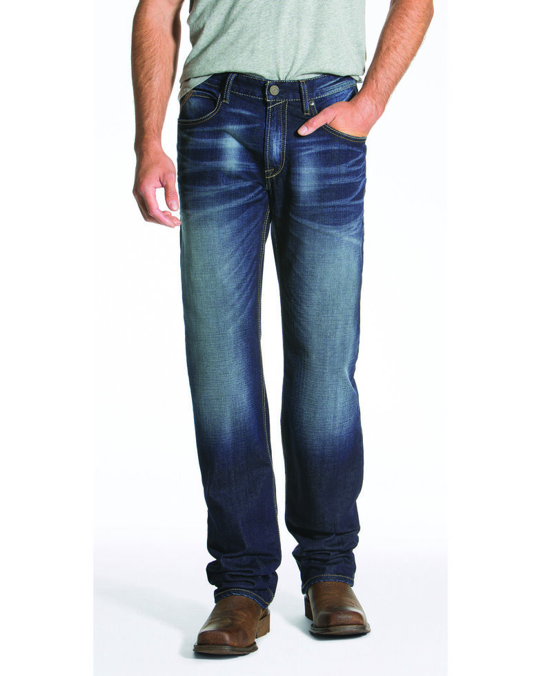 Ariat Men's Blue M4 Ultra Stretch Phoenix Fashion Bootcut Jeans , Blue, hi-res