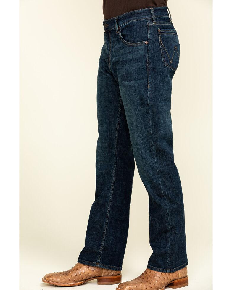 Wrangler Retro Men's Phillips Dark Relaxed Bootcut Jeans - Long , Blue, hi-res
