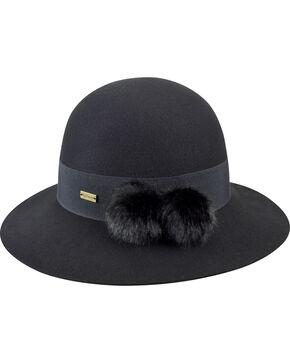 Betmar Women's Mullins Black Round Crown Hat, Black, hi-res