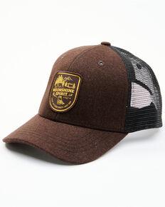 Moonshine Spirit Men's Dark Brown Outdoor Jar Logo Patch Mesh Back Ball Cap , Dark Brown, hi-res