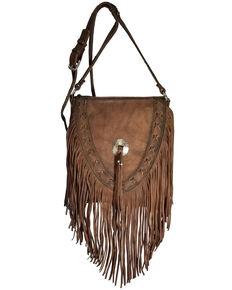 Kobler Leather Women's Brown Lubbock Crossbody Bag, Dark Brown, hi-res