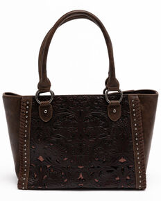 Shyanne Women's Brown Glitter Inlay Tote, Brown, hi-res
