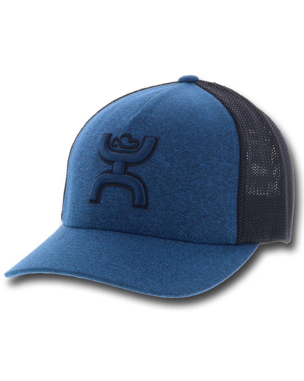 HOOey Men's Blue Coach Trucker Cap, Blue, hi-res