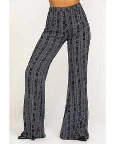 Rock & Roll Denim Women's Black Aztec Print Pants, Black, hi-res