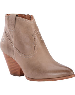 Frye Women's Ash Reina Leather Booties - Pointed Toe , Ash, hi-res