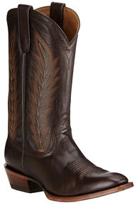 Ariat Men's Chocolate High Roller Boots - Square Toe, Chocolate, hi-res