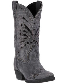Laredo Women's Stevie Western Boots - Snip Toe, Black, hi-res