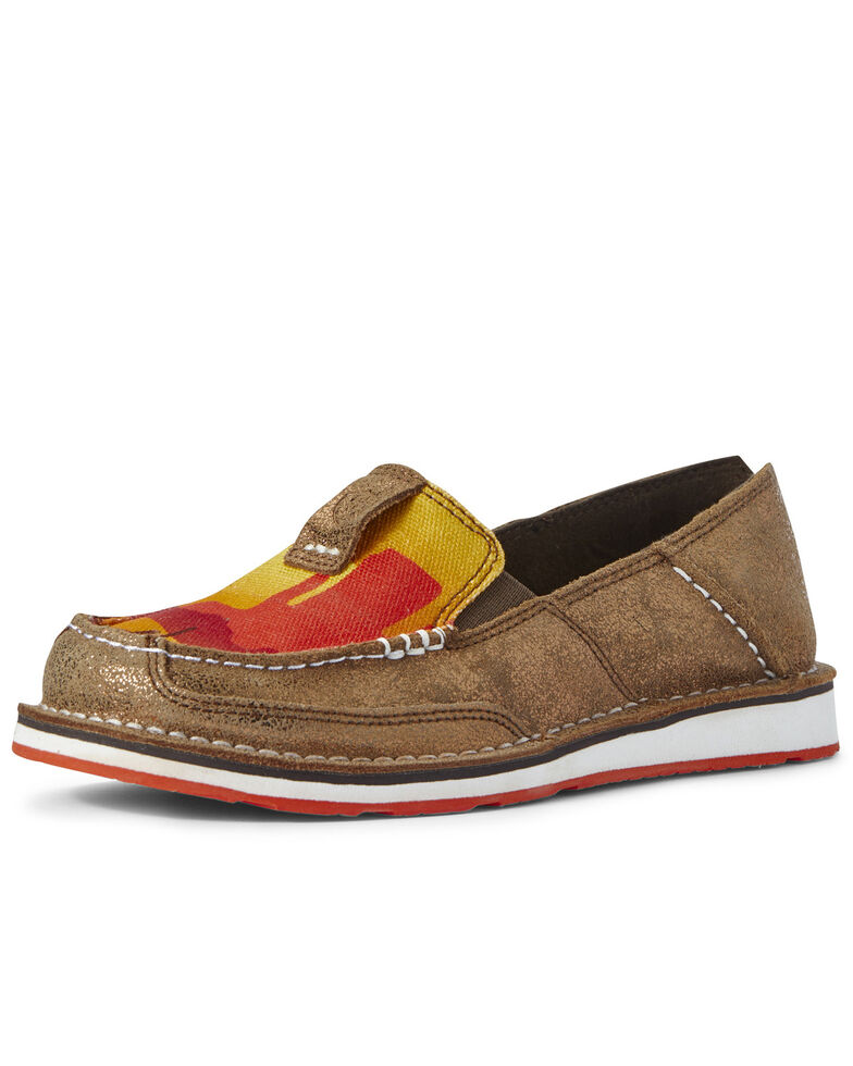 Ariat Women's Sunset Copper Cruiser Shoes - Moc Toe, Brown, hi-res
