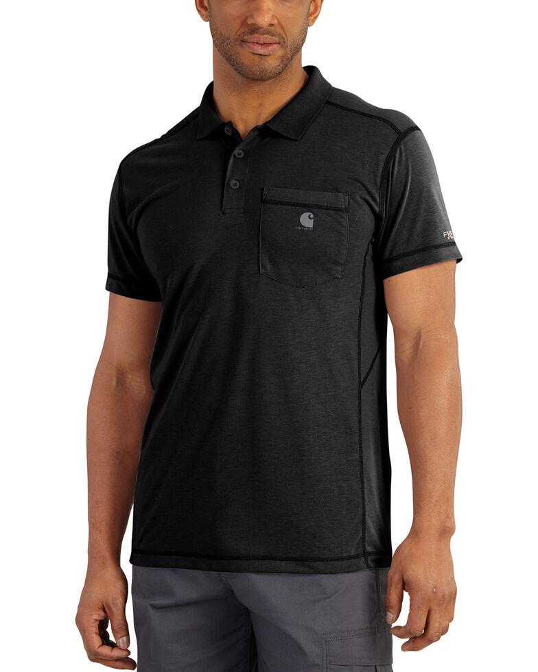 Carhartt Men's Force Extremes Pocket Polo , Black, hi-res