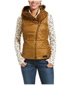 Ariat Women's Bronze Brown Kilter Insulated Vest , Brown, hi-res