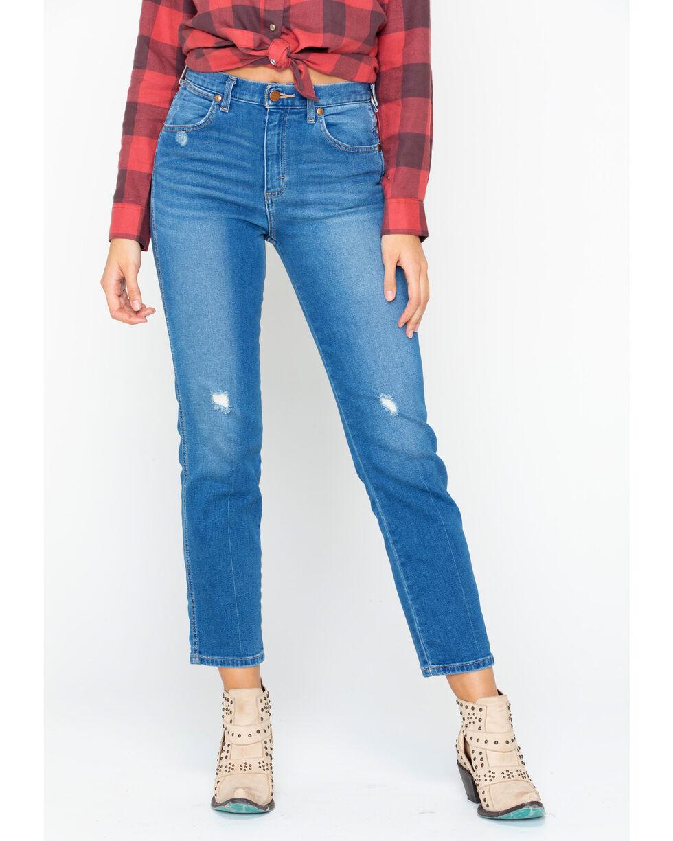 Wrangler Women's Modern High Rise Heritage Jeans, Light Blue, hi-res