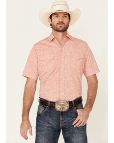 Ely Walker Men's Assorted Small Paisley Print Short Sleeve Snap Western Shirt , Multi, hi-res