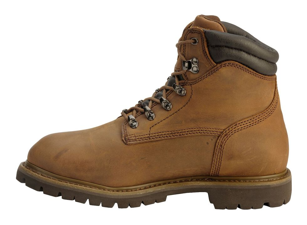 """Chippewa Waterproof & Insulated Tough 6"""" Lace-Up Work Boots - Comp Toe, Bark, hi-res"""