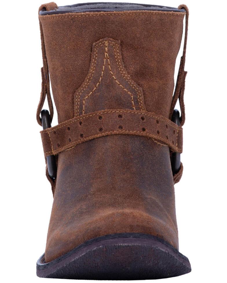 Laredo Women's Emersyn Harness Western Booties - Round Toe, Cognac, hi-res