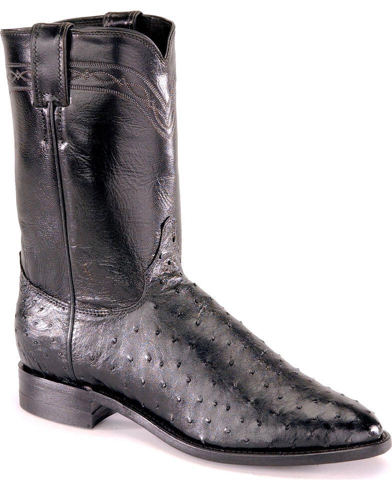 e8ca54a3428 Justin Full Quill Ostrich Roper Boots - Medium Toe