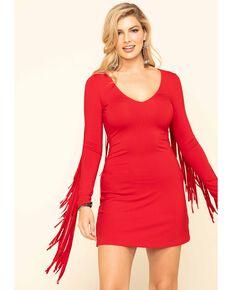 Idyllwind Women's Red I Feel Like Dancing Dress, Red, hi-res