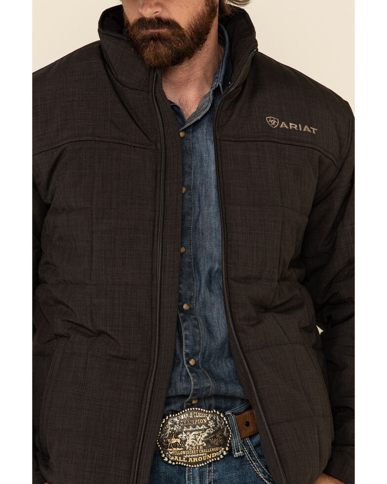 Ariat Men's Brown Crius Concealed Carry Insulated Jacket , Brown, hi-res