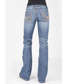 Stetson Women's 816 Classic Light Wash Bootcut Jeans, Blue, hi-res