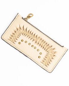 Shyanne Women's Tan Leather Tied Detail Slim Wallet, Tan, hi-res