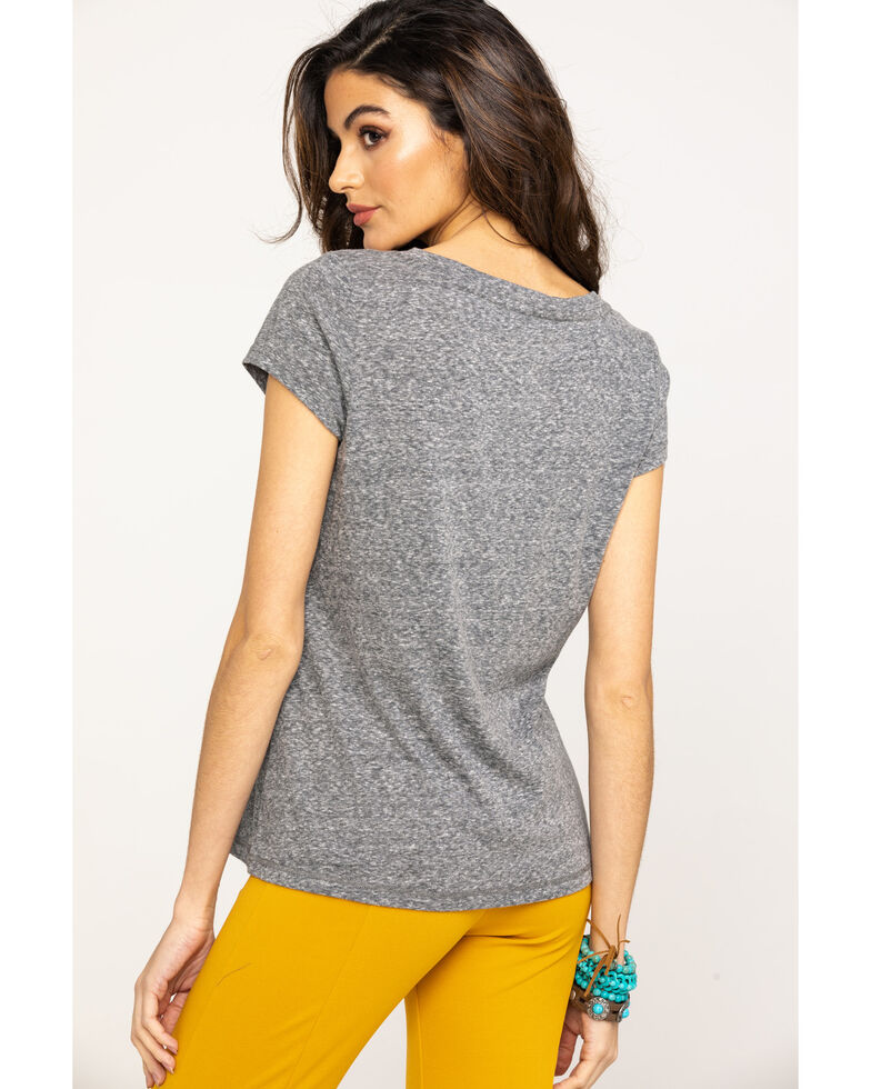 Shyanne Life Women's Whiskey & Wild Horses Graphic Tee, Heather Grey, hi-res