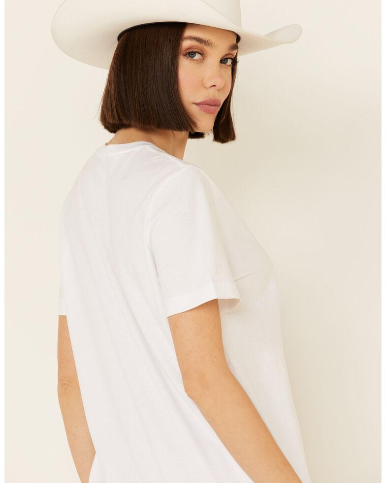 Wrangler Women's Americana Long Live Cowgirls Short Sleeve Graphic Tee , White, hi-res